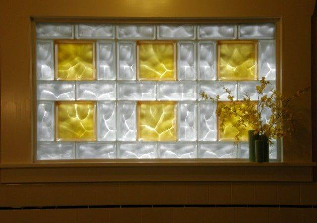 Frosted Glass Blocks Using Bath Window