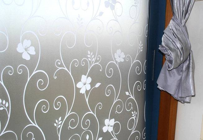 Frosted Glass Design Patterns Office Flower