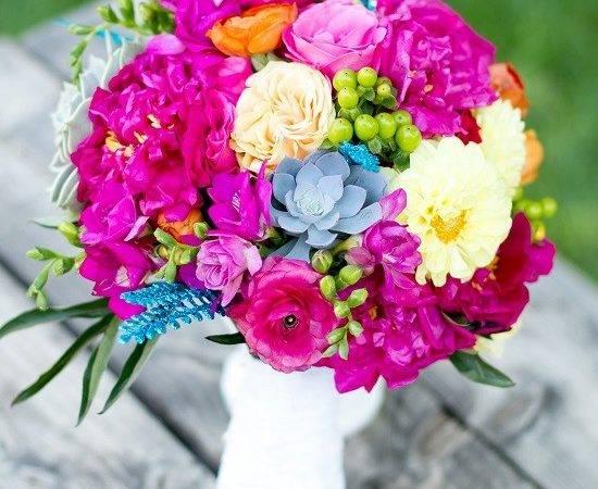 Fuchsia Turquoise Bouquet