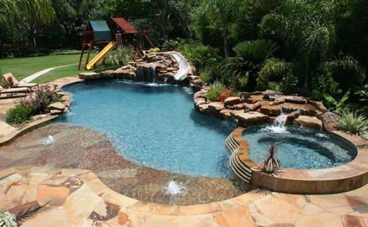 Fun Backyard Pool Swimming Sanctorum Pinterest
