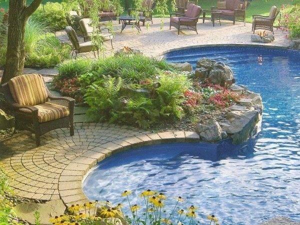 Fun Curvy Pool Design Beautiful Pools Pinterest