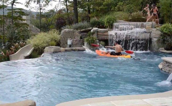 Fun Inground Swimming Pool Design Slide Kayaking Youtube