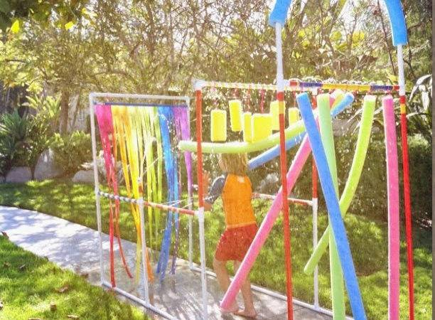 Fun Kids Diy Splash Pad Pool Noodles Pvc Pipe
