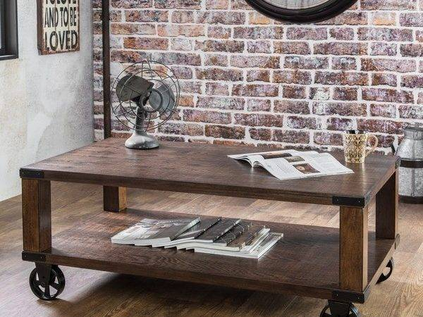 Furniture America Royce Modern Industrial Coffee Table