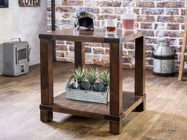 Furniture America Royce Modern Industrial End Table Shipping