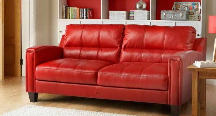 Furniture Bright Red Sofa Design Shelf