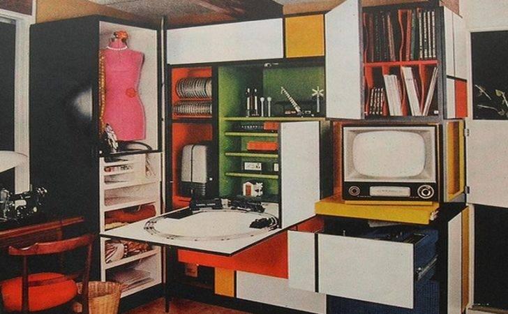 Furniture Cabinet Unique Colorful Piet Mondrian