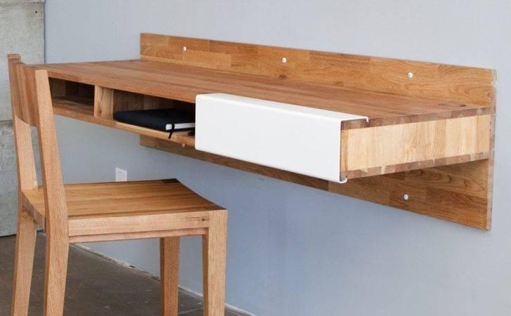 Furniture Custom Diy Wood Wall Mounted Floating Computer Desk