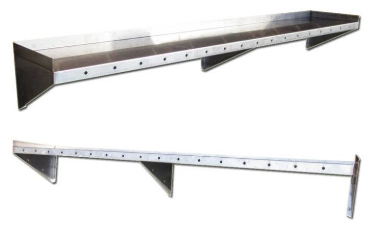 Furniture Custom Made Stainless Steel Wall Shelves Restaurants