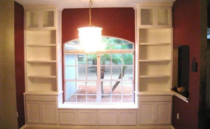Furniture Living Room Bookcases Custom Built Window Seat