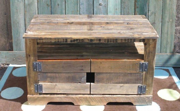 Furniture Living Room Media Storage Pallet Wood Entertainment