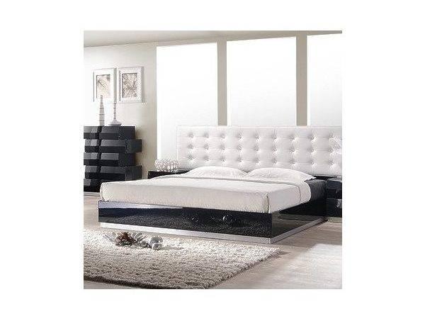 Furniture Milan Platform Bed Black Lacquer King