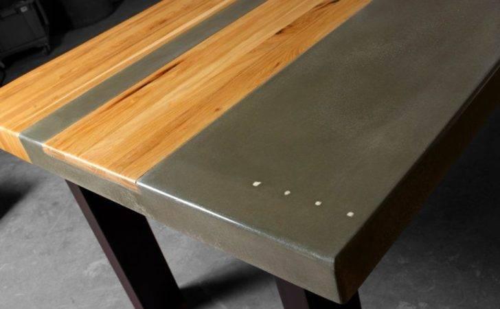 Furniture Modern Concrete Tables Ideas Paint Table Gray Color