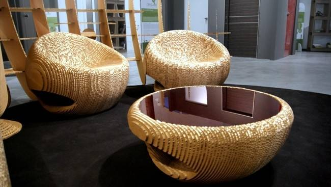 Furniture Recycling Cardboard Design Nature Interior