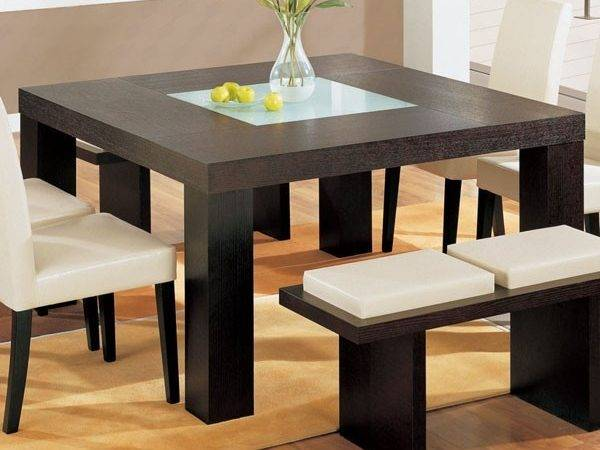 Furniture Square Dining Table Wenge Modern