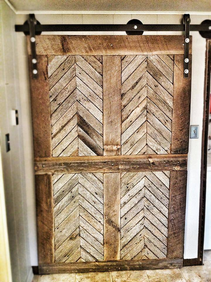 Furniture Yesterday Reclaimed Antique Barn Door Track System