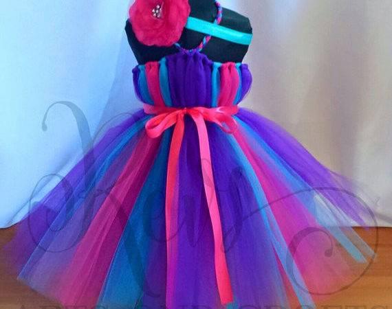 Fuschia Purple Turquoise Tutu Dress Save