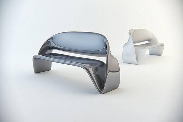 Futuristic Sofa Curvaceous Furniture Nuvist