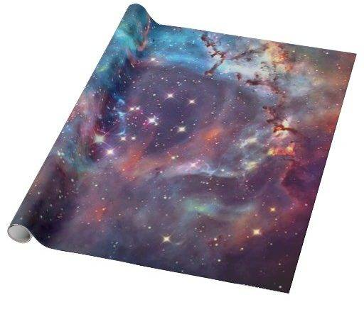 Galaxy Nebula Space Wrapping Paper Zazzle