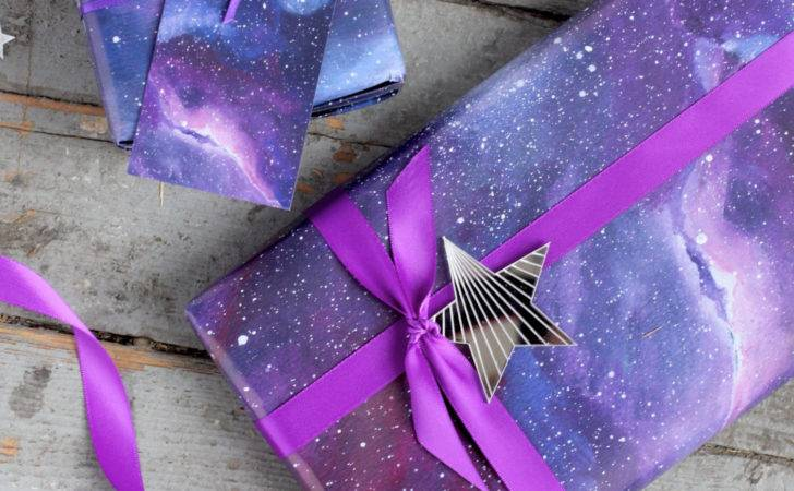 Galaxy Print Wrapping Paper Space Gift Wrap Constellation