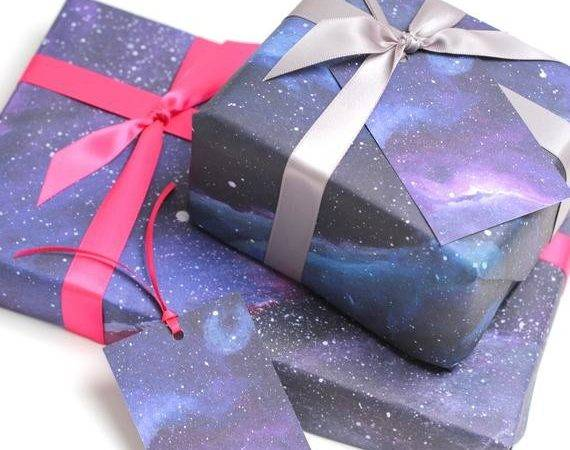 Galaxy Print Wrapping Paper Space Gift Wrap Thumbsupx