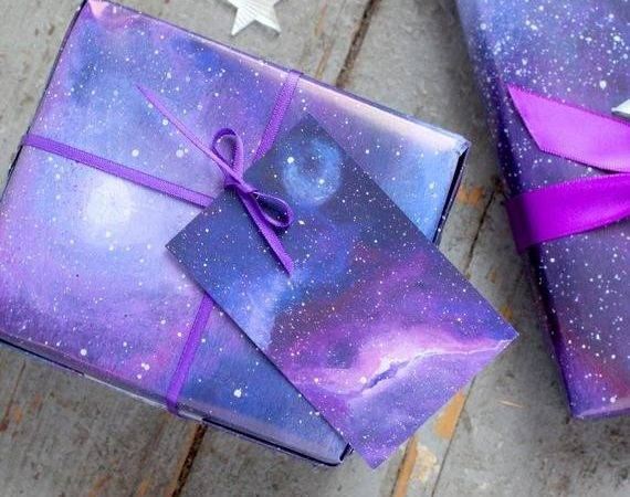 Galaxy Print Wrapping Paper Space Gift Wrap