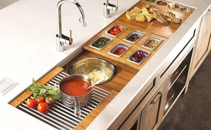 Galley Sink Workstation Kitchen Design