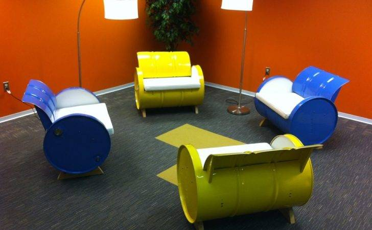 Gallon Steel Drums Repurposed Into Amazing Furniture
