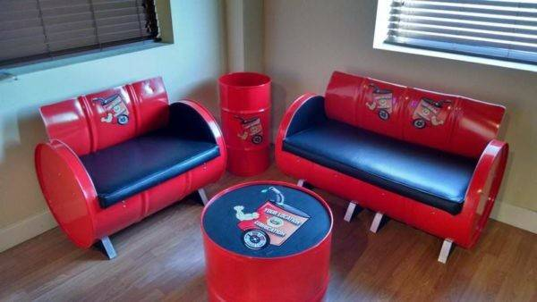 Gallon Steel Drums Upcycled Into Furniture Recyclart
