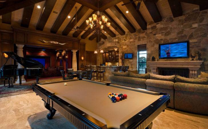 Game Room Pool Table New Over Garage Pinterest