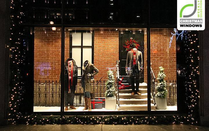 Gant Christmas Shop Windows London Retail Design Blog