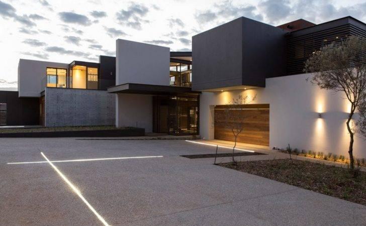 Garage Lighting Luxurious Modern Residence Pretoria South Africa