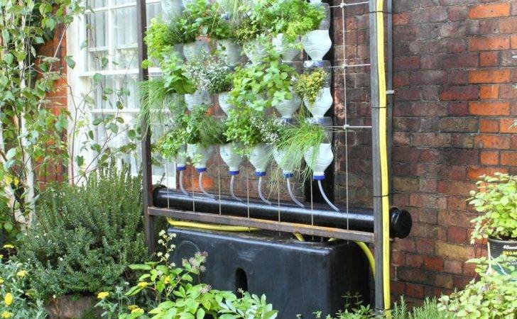 Garden Featured Vertical Hydroponic System Made Old