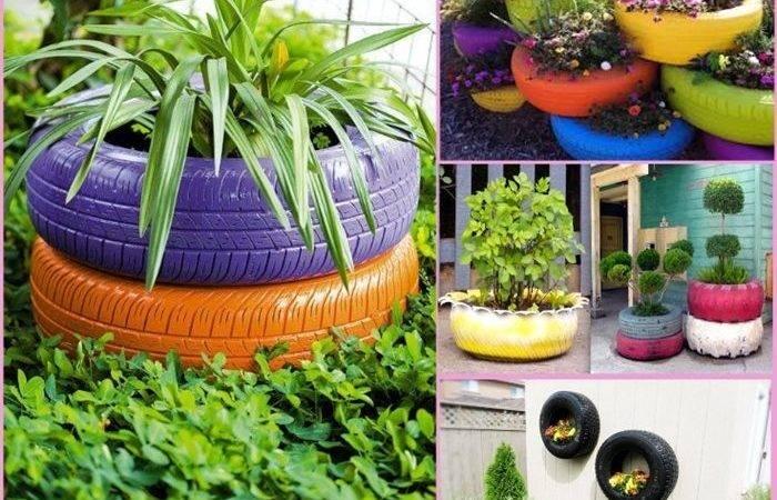 Garden Ideas Creative Old Tires Gardens Gardening