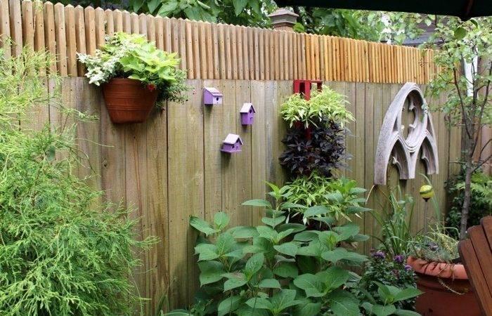 Garden Ideas Fence Backyard Attach Flower Pots Plant
