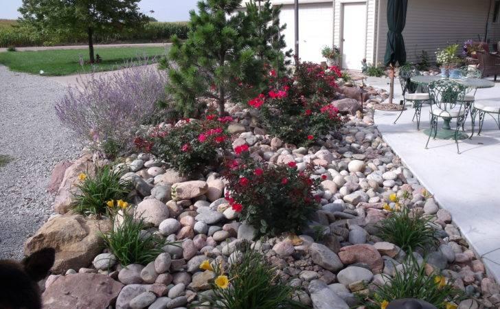 Garden Ideas River Rocks Landscaping Mulch Idea Rock