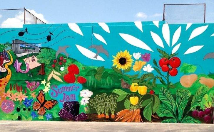 Garden Murals Fantastic Food Mural Park Outdoor
