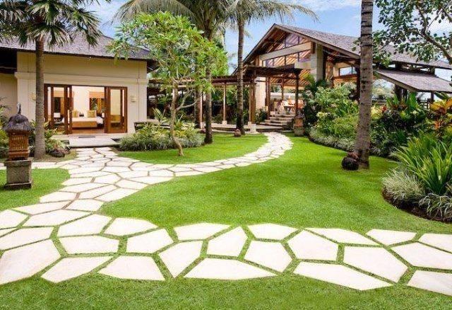 Garden Paths Design Ideas Stepping Stones Flowers Yard