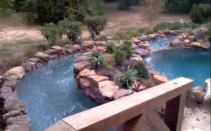 Garden Patio Diy Backyard Natural Lazy River Stone Liner
