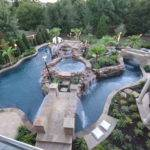 Garden Patio Top Large Backyard Lazy River Pool Design