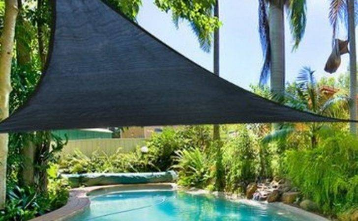 Garden Sun Rain Shade Sail Triangular Black Cover Protection Mtr