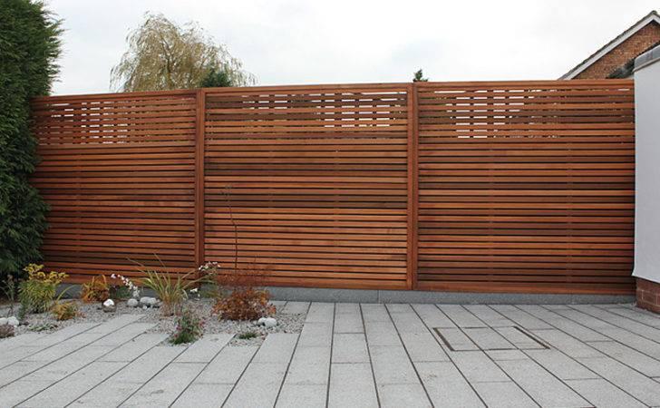 Garden Trellis Contemporary Slatted Panels Planters