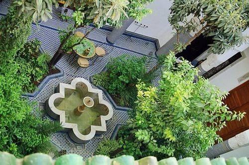 Gardens Courtyards Fez Morocco