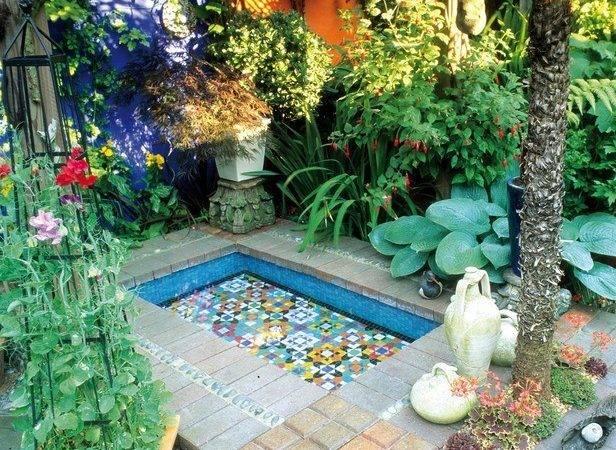 Gardens Moroccan Garden Water Features Mosaic
