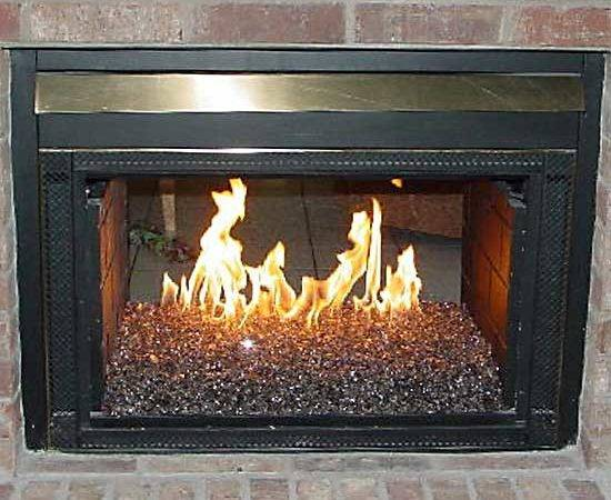 Gas Fireplace Accessories Glass