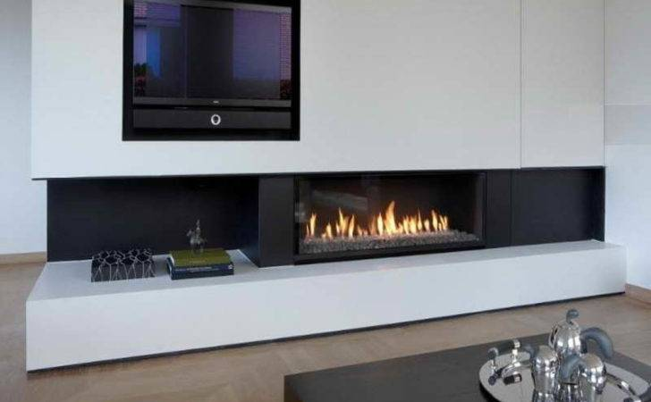 Gas Fireplace Besides Modern Contemporary