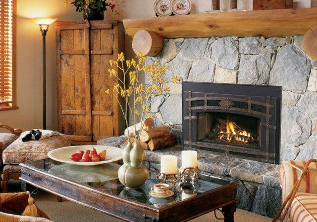 Gas Fireplace Inserts Rustic Indoor Fireplaces San Francisco