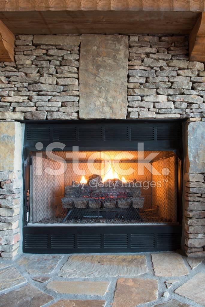 Gas Fireplace Stone Surround Photos