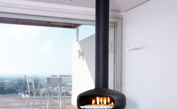 Gas Hanging Fireplace Panoramic Glass Oval British Fires