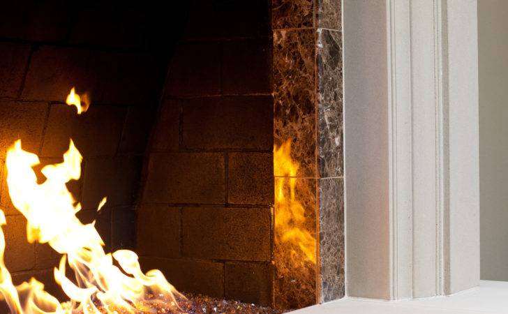 Gas Logs Inserts Glass Rock Fireplace Ideas